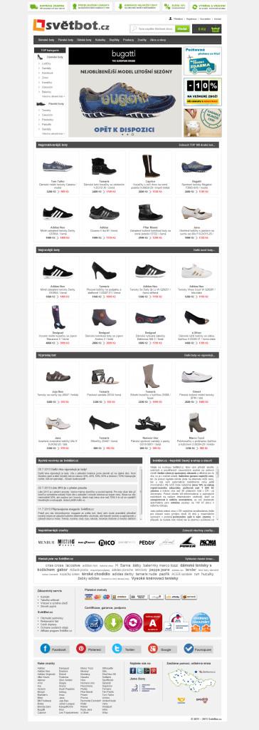 Hlavní stránka - nový design
