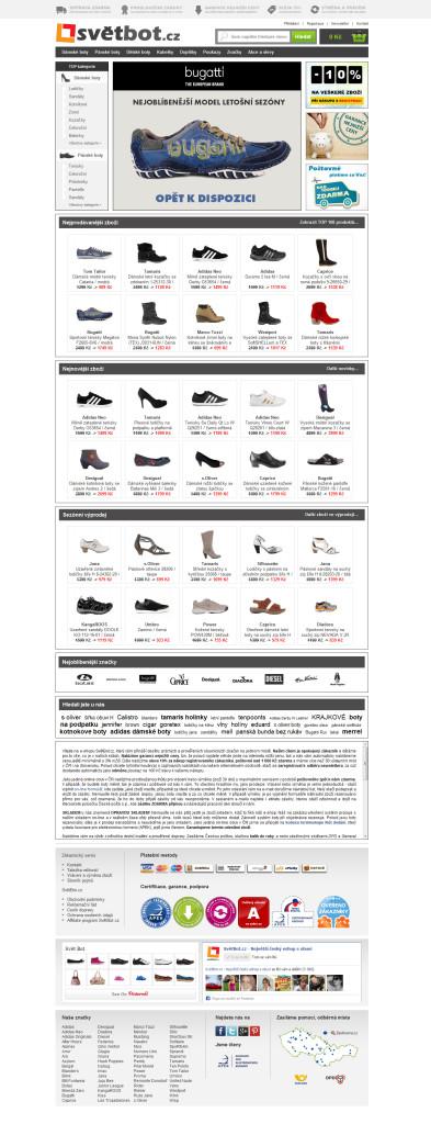 Hlavní stránka - původní design